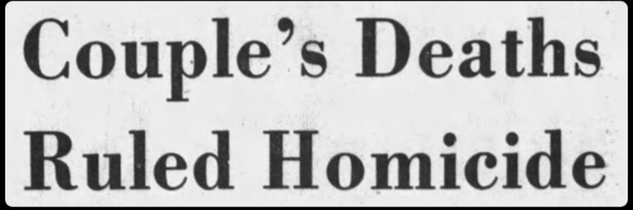 Who Killed Rick Merrill & Dori Colyer? PRESS